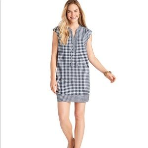 Vineyard vines gingham mix tunic/shift dress sizeS
